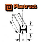 Plastruct H-8P  H-8P - 6.4mm H SECTION (5 pieces)